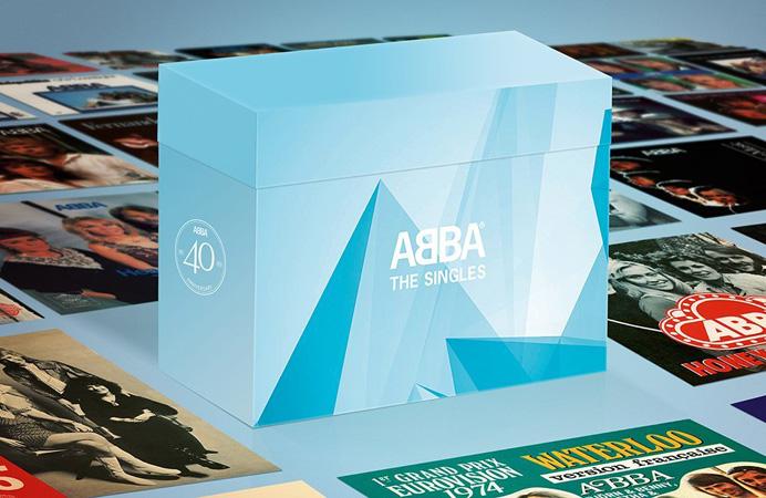 Copertina Disco Vinile 33 giri The Singles [Cofanetto 40x45 Giri] di ABBA