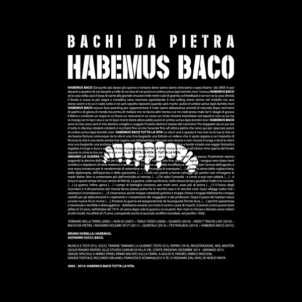 Copertina Disco Vinile 33 giri Habemus Baco di Bachi Da Pietra