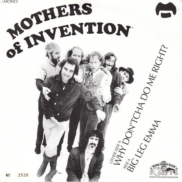 Copertina Disco Vinile 33 giri Big Leg Emma [Singolo 45Giri] di Mothers of Invention (Frank Zappa