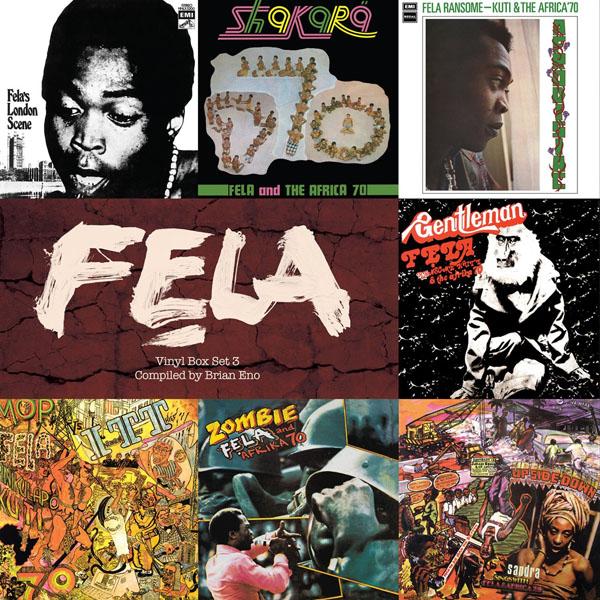 Copertina Disco Vinile 33 giri Vinyl Box Set 3 [Cofanetto 7xLP] di Fela Kuti