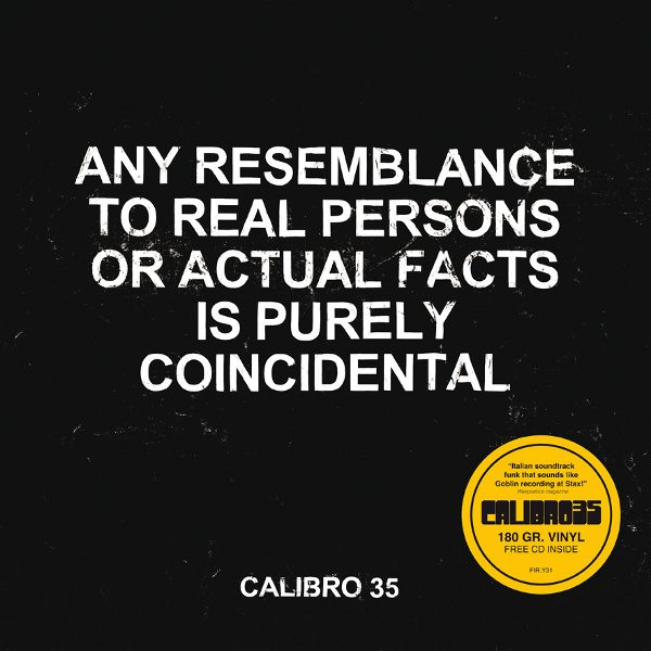 Copertina Disco Vinile 33 giri Any Resemblance To Real Facts Is Purely Coincidental di Calibro 35
