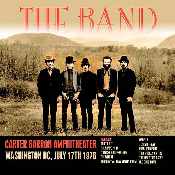 Copertina Disco Vinile 33 giri Carter Barron Amphitheater Washington Dc [2 LP] di The Band