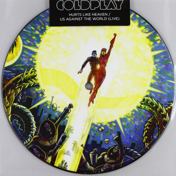 Copertina Disco Vinile 33 giri Hurts Like Heaven [Singolo 45 Giri Picture Disc] di Coldplay