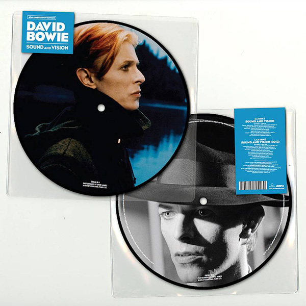 "Copertina Disco Vinile 33 giri Sound and Vision [Singolo Picture Disc 7""] di David Bowie"