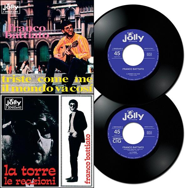 Copertina Disco Vinile 33 giri The Jolly Story 1967 [2 x 45 Giri] di Franco Battiato