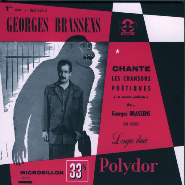 Copertina Disco Vinile 33 giri Les Chansons Poetiques  di Georges Brassens
