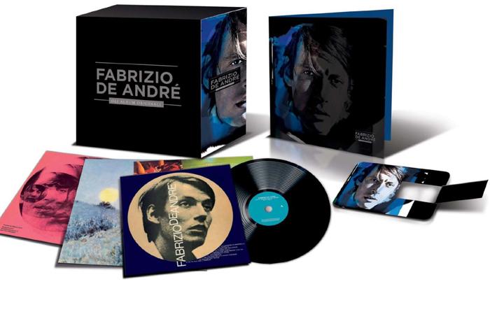 Copertina Disco Vinile 33 giri Gli Album Originali [Cofanetto 15 LP] di Fabrizio de Andrè