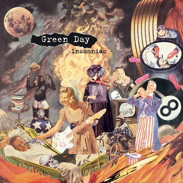 Copertina Disco Vinile 33 giri Insomniac di Green Day