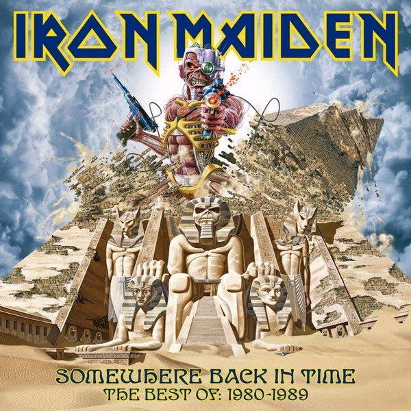 Copertina Disco Vinile 33 giri Somewhere Back In Time [2 LP] di Iron Maiden