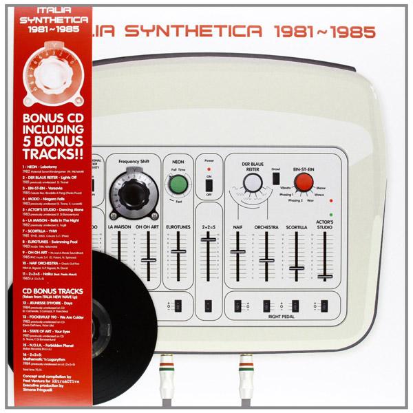 Copertina Disco Vinile 33 giri Italia Synthetica 1981-1985 [LP+CD] di