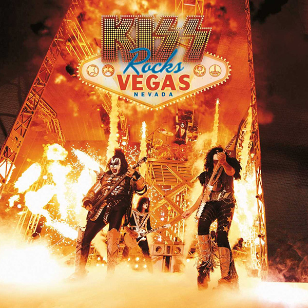 Copertina Vinile 33 giri Kiss Rocks Vegas [2LP + DVD] di Kiss