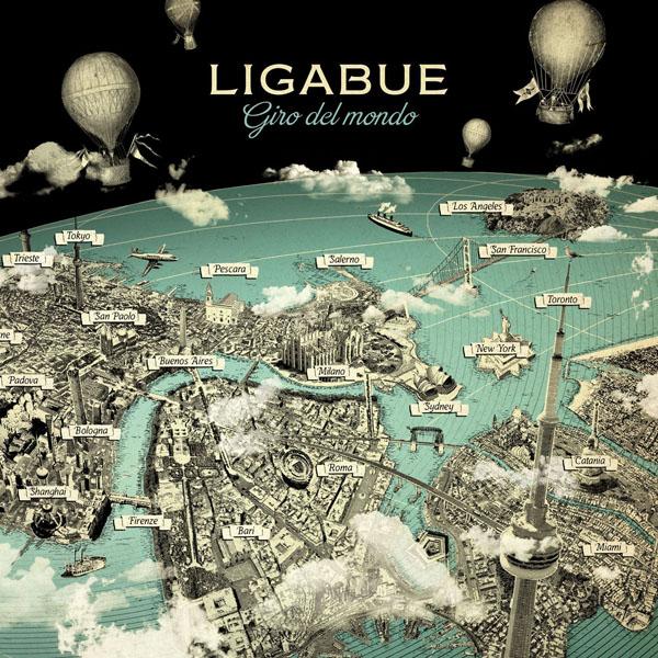 Copertina Disco Vinile 33 giri Giro del Mondo [Deluxe 3 LP] di Ligabue