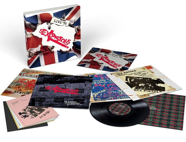 Copertina Disco Vinile 33 giri Live '76 [Cofanetto 4xLP] di Sex Pistols