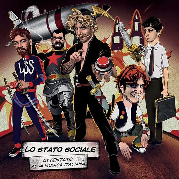 Copertina Vinile 33 giri Attentato alla Musica Italiana [3 LP] di Lo Stato Sociale