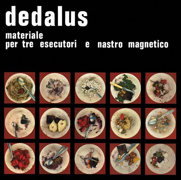 Copertina Disco Vinile 33 giri Materiale per tre esecutori e nastro magnetico di Dedalus