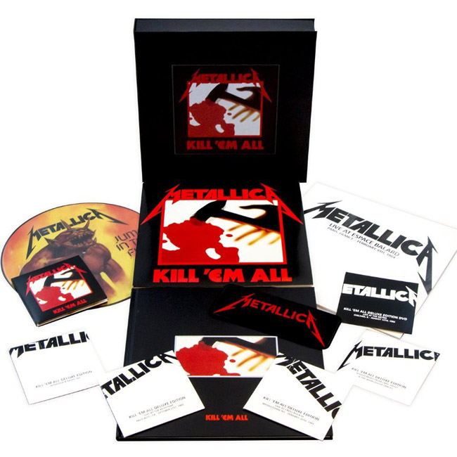 Copertina Disco Vinile 33 giri Kill 'Em All [Cofanetto 4LP+5CD+DVD+Libro] di Metallica