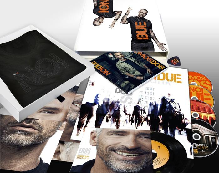 Copertina Disco Vinile 33 giri Noi Due [Cofanetto Deluxe 3xCD+DVD+45Giri] di Eros Ramazzotti