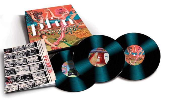 Copertina Disco Vinile 33 giri PFM Celebration 1972-2012 [3 LP + Libro] di Premiata Forneria Marconi