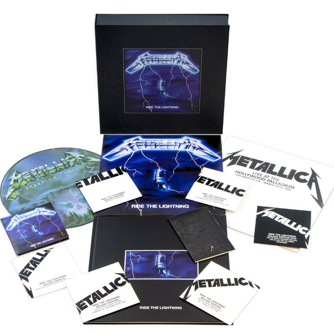 Copertina Disco Vinile 33 giri Ride The Lightning [Cofanetto 4LP+6CD+DVD+Libro] di Metallica