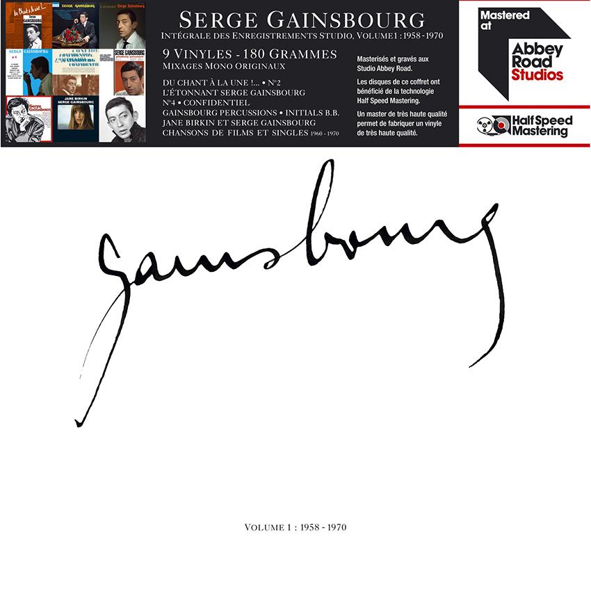 Copertina Vinile 33 giri Volume 1: 1958-1970 [Cofanetto 9xLP] di Serge Gainsbourg