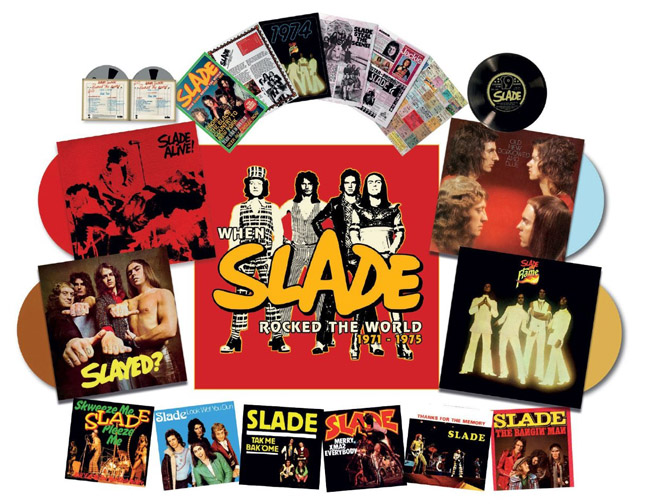 Copertina Disco Vinile 33 giri When Slade Rocked the World 1971-1975 di Slade