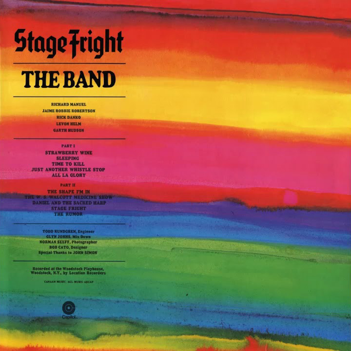Copertina Vinile 33 giri Stage Fright di The Band