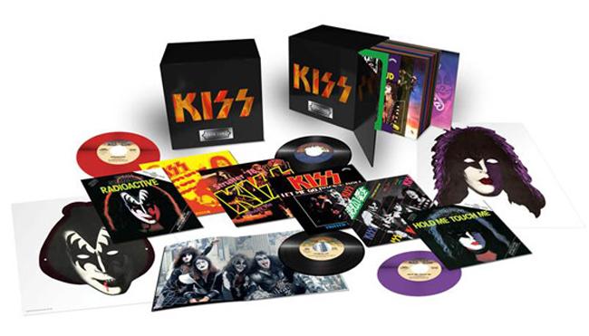 Copertina Disco Vinile 33 giri The KISS Casablanca Single Collection [Cofanetto 29 LP] di Kiss