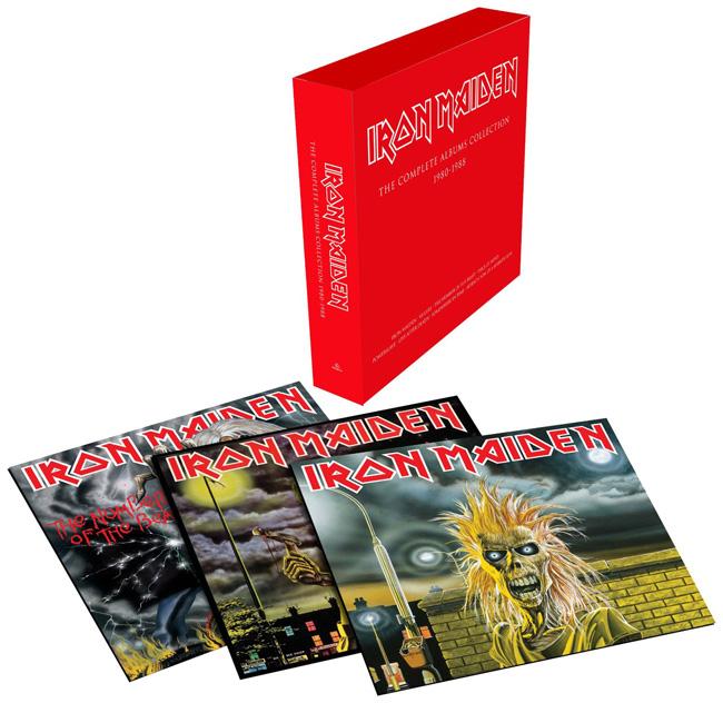 Copertina Disco Vinile 33 giri The Complete Albums Collection 1980-88 [Cofanetto 3 LP] di Iron Maiden