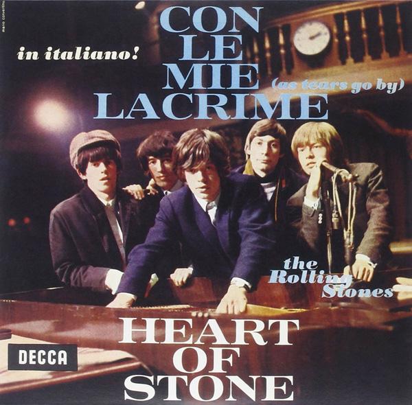 Copertina Disco Vinile 33 giri Con Le Mie Lacrime / Heart Of Stone  di The Rolling Stones