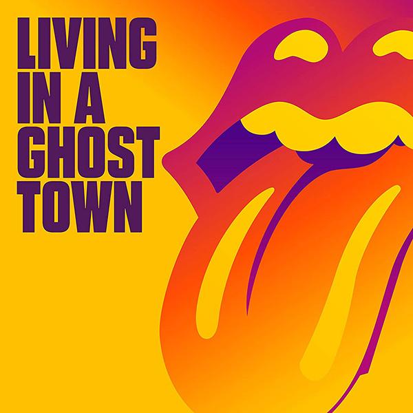 "Copertina Vinile 33 giri Living in a Ghost Town [Singolo 10""] di The Rolling Stones"