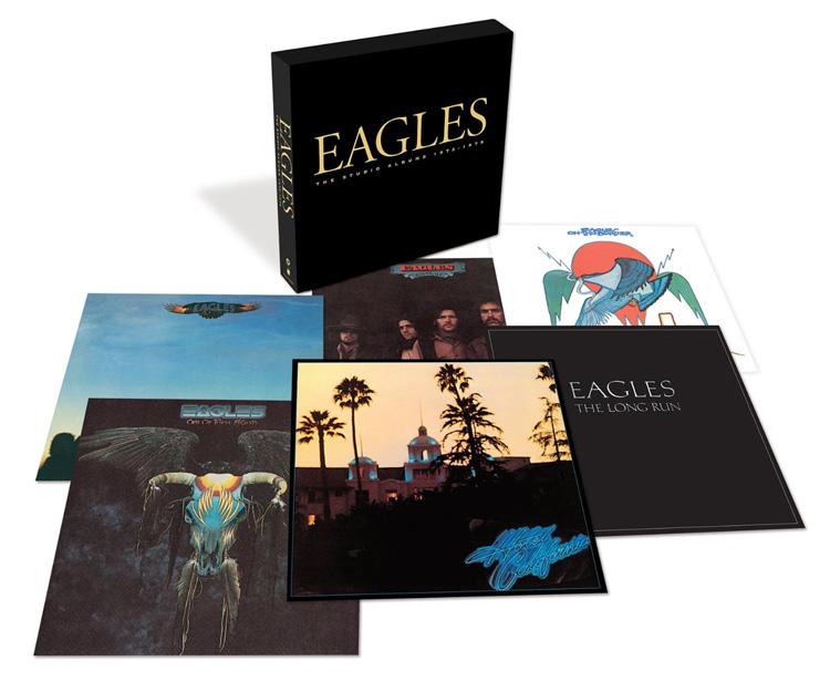 Copertina Disco Vinile 33 giri The Studio Albums 1972-1979 [Cofanetto 6LP+45 Giri] di Eagles
