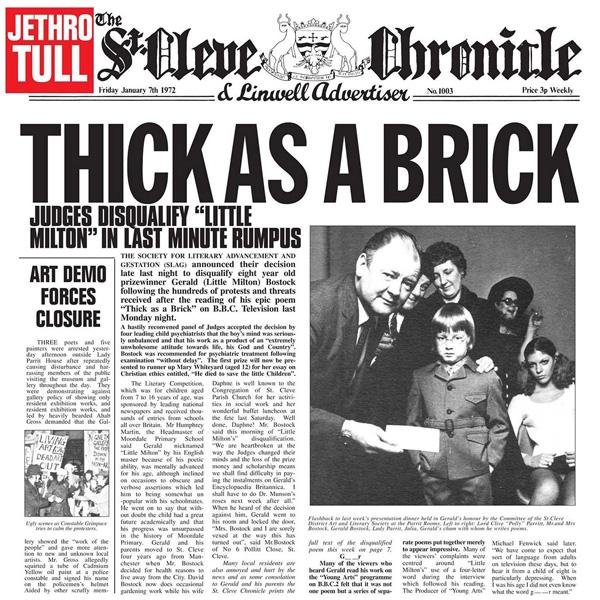 Copertina Disco Vinile 33 giri Thick As a Brick  di Jethro Tull