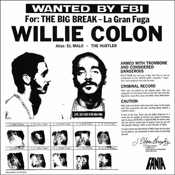 Copertina Vinile 33 giri Wanted By The FBI di Willie Colón