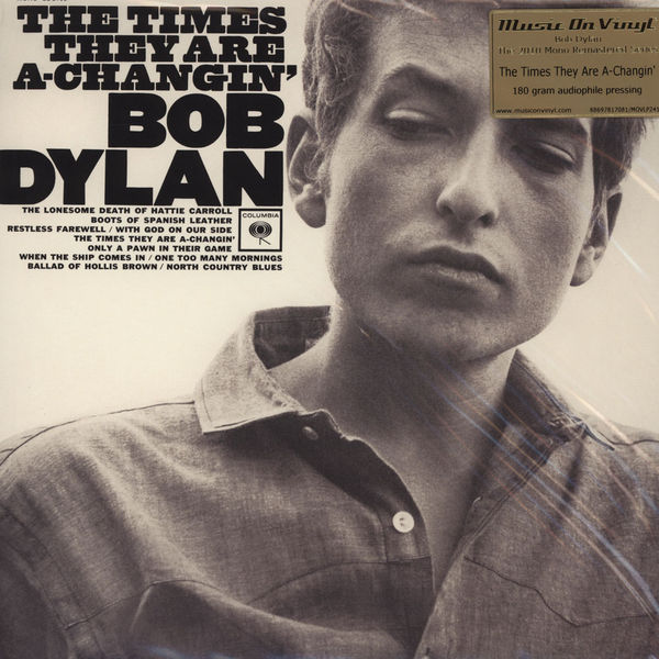 Copertina Disco Vinile 33 giri The Times They Are A-Changin' di Bob Dylan