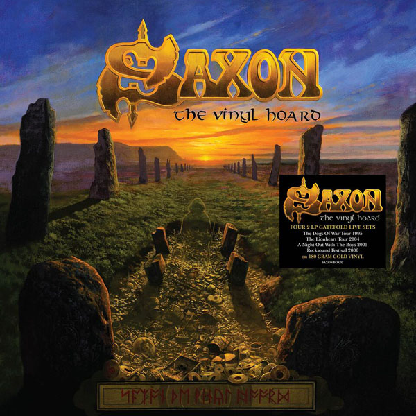 Copertina Disco Vinile 33 giri The Vinyl Hoard [Cofanetto 8xLP] di Saxon